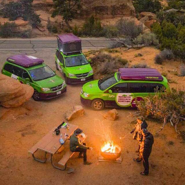 Jucy Team with Autohome roof tent | Juicy Team mit autohome dachzelt