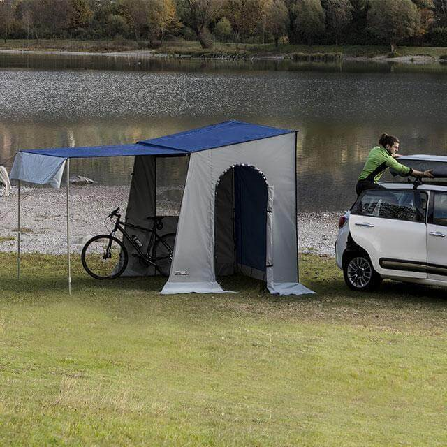 Double Awning, A Single Large Awning To Place On Top Of Overcamp When  Combined Together. Other Accessories: Roof Bars, Space Saving Garage  Storing Rack, ...
