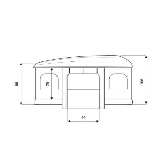 Autohome Dachzelt - Airtop Roof Top Tents measures