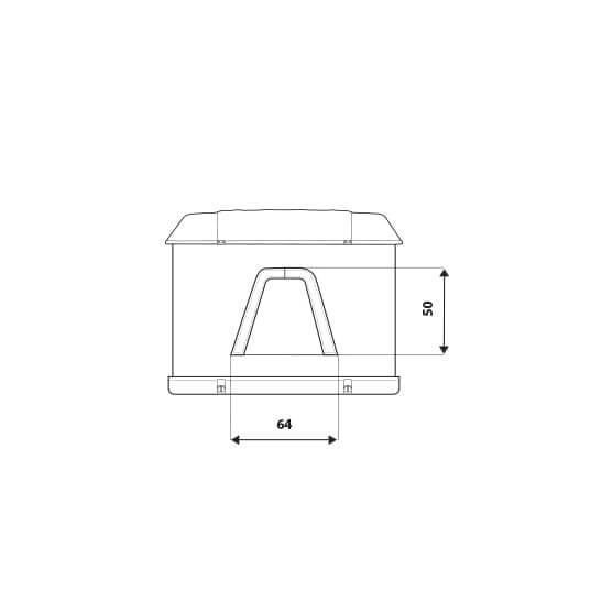 Maggiolina GT Measures Details - Autohome Roof Top Tents