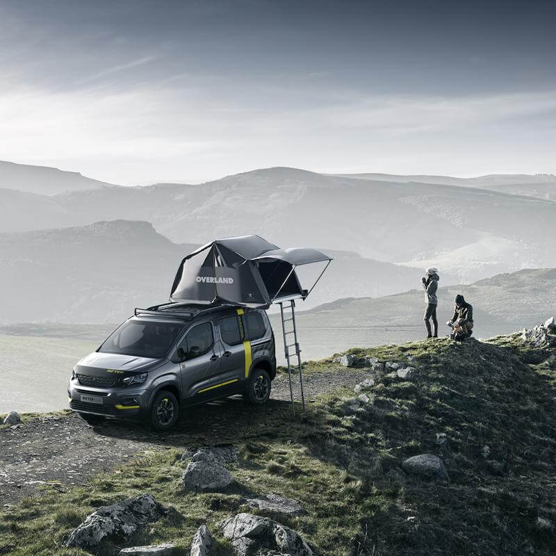 Autohome Dachzelt - Roof Top Tents Peugeot partnership