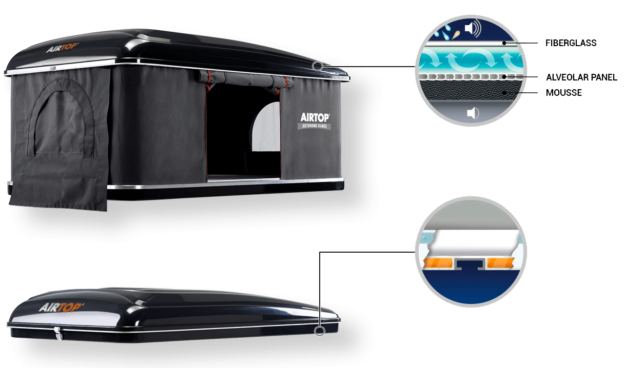 Autohome Dachzelt - Blackstorm Airtop Roof Top Tents