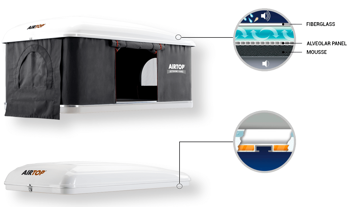 Autohome Dachzelt - Carbon Airtop Roof Top Tents