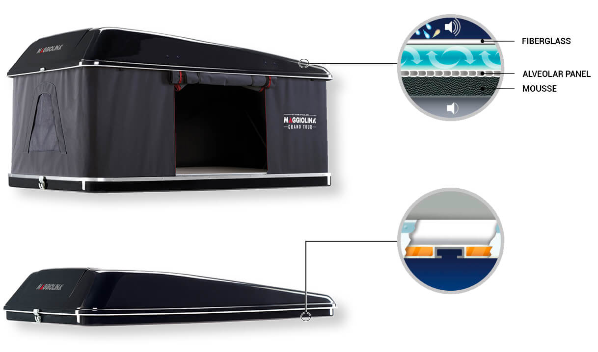 Roof Top Tents by Autohome Dachzelt - Maggiolina Grand Tour Blackstorm