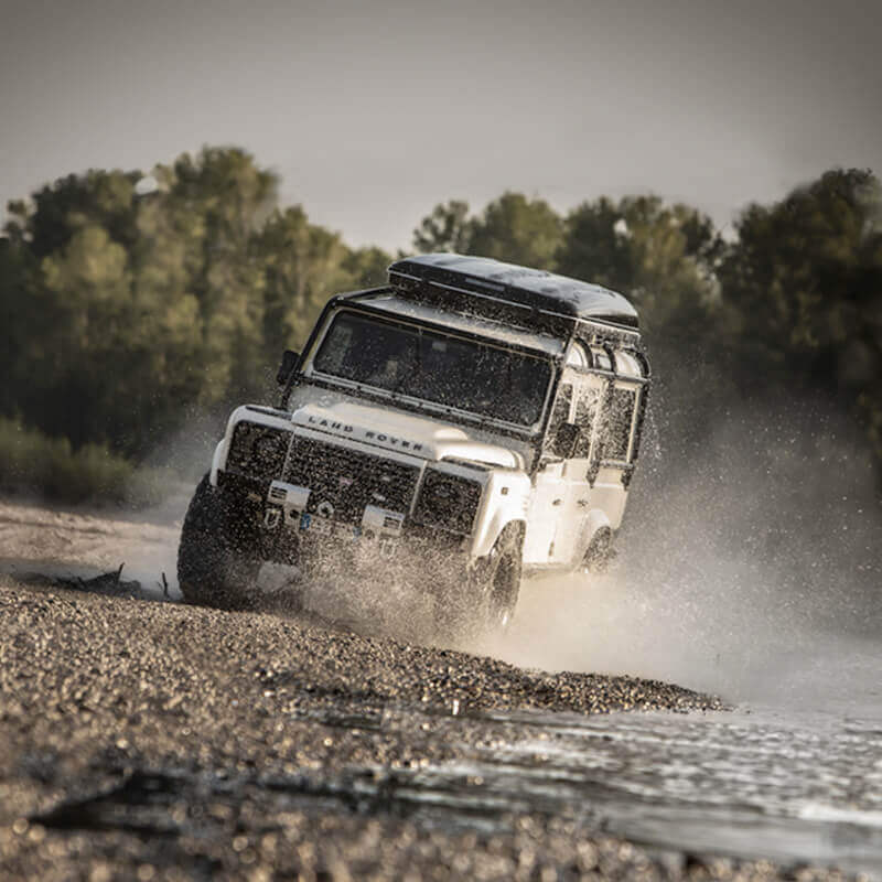 Autohome - Land Rover off road con tenda da tetto